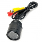Waterproof 2.4GHz Wireless Car NTSC Rearview Camera w/ 7-LED / IR Night Vision - Black (DC 12V)