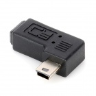 CY U2-064-RI Right Angled Mini USB Female to Mini USB Male Adapter - Black