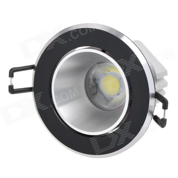 Langkun 5W 450lm 6500K White COB LED Ceiling Light - Black + Silver (AC 85~265V) kinfire kf1 5w 400lm 6000k 1 cob led white light ceiling lamp white silver ac 85 265v