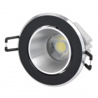 Langkun 5W 450lm 6500K White COB LED Ceiling Light - Black + Silver (AC 85~265V)