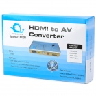 FY1320 1080P HDMI para AV / S-Video High Definition Áudio Vídeo Converter - Prata