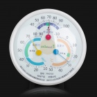 Gemlead THG101 Household Comfort Analogue Thermometer + Hygrometer - White