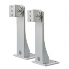 Iron Support Mount Bracket for Z Shaped Surveillance Camera - Silver (2 PCS)