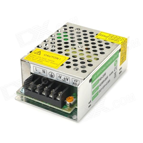 25W 12V 2.08A LED Switching Power Supply for LED Strip Light - Silver led driver ac input 220v to dc 1800w 0 60v 30a adjustable output switching power supply transformer for led strip light