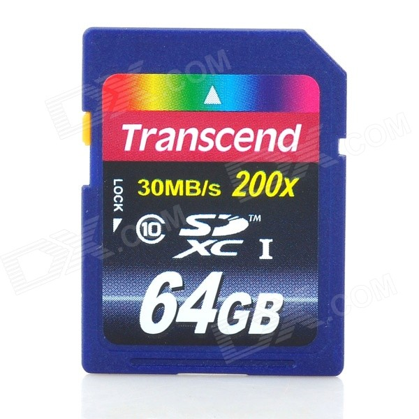 Transcend Class10 UHS-I SDXC Memory Card - Blue + Red (64GB)