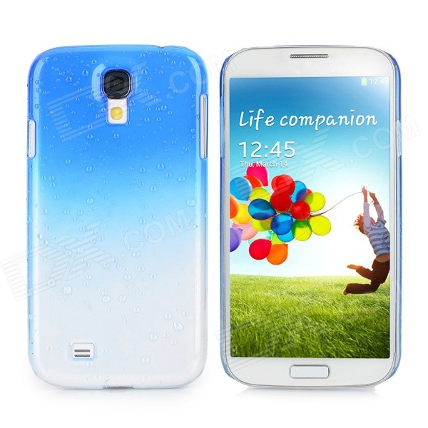 Water Drop Gradual Change Style Back Case for Samsung Galaxy S4 / i9500 - Blue water drop style protective plastic back case for samsung galaxy s4 i9500 yellow orange