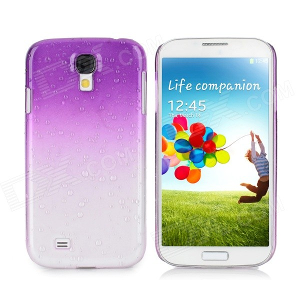 Water Drop Gradual Change Style Back Case for Samsung Galaxy S4 / i9500 - Purple water drop style protective plastic back case for samsung galaxy s4 i9500 yellow orange