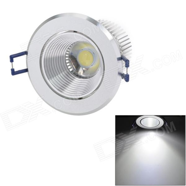 Langkun 9W 800lm 6500K White COB LED Ceiling Light - Silver (AC 90~265V)