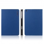 ENKAY ENK-3313 Microgroove Pattern Protective PU Leather Case for Ipad MINI - Blue