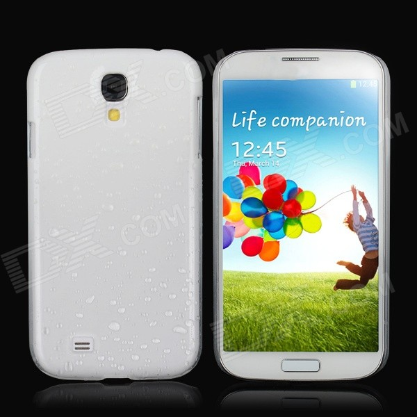 Water Drop Style Protective Plastic Back Case for Samsung Galaxy S4 i9500 - White water drop style protective plastic back case for samsung galaxy s4 i9500 yellow orange