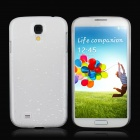 Water Drop Style Protective Plastic Back Case for Samsung Galaxy S4 i9500 - White