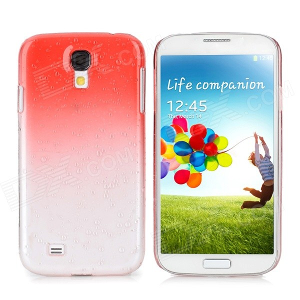 Water Drop Gradual Change Style Back Case for Samsung Galaxy S4 / i9500 - Red water drop style protective plastic back case for samsung galaxy s4 i9500 yellow orange
