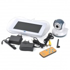 "Multifunction 2.4GHz Wireless 7 ""LCD Baby Monitor w / SD / Controle Remoto - Branco"