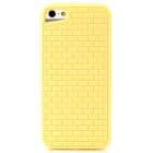 Stylish Brick Wall Style Protective TPU Back Case for Iphone 5 - Yellow