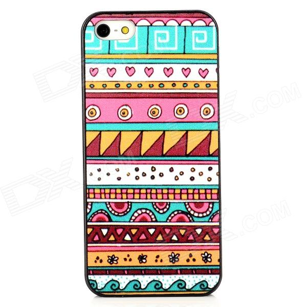 Tribal Style Protective Plastic Back Case for Iphone 5 - Multicolor water drops style protective plastic back case for iphone 4 blue