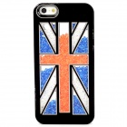 UK Flag Style Protective Plastic Back Case for Iphone 5 - Black