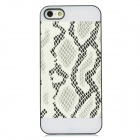 Snakeskin Design Protective Plastic Back Case for iPhone 5 - White
