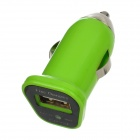 FIN-20 DC 5V 1.5A USB Car Charger for Iphone 4 / 4S / 5 / Samsung i9500 + More - Green (DC 12~24V)