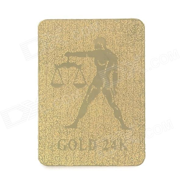 A Pa LXH0074 Zodiac Pattern 24K Gold Mobile Phone Anti Radiation Sticker - Golden