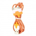 USB 2.0 to 30-Pin Data/Charging Cable w/ RGB LED Flashing for iPhone 4 / 4S / The New iPad - Orange