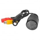 Waterproof 2.4GHz Wireless CMOS Car NTSC Rearview Camera w/ 7-LED Night Vision - Black (DC 12V)