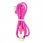 USB 2.0 to 30-Pin Data/Charging Cable w/ RGB LED Flashing for iPhone 4 / 4S / The New iPad - Purple