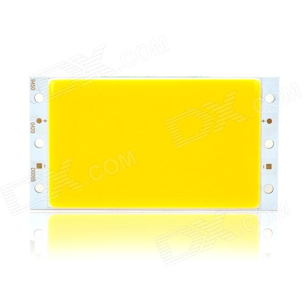 DIY 5W 450lm 3000K Warm White Light COB LED Module - Silver + Yellow (12~15V)