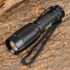 LWJ-04T6 Cree XM-L T6 420lm 5-Mode White Zooming Flashlight - Black (1 x 18650 / 3 x AAA)