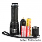 LWJ-0023 400lm 5-Mode White Zooming Flashlight - Black (1 x 18650 / 3 x AAA)