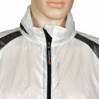 NUCKILY NY0920 Ultrathin Anti-UV Water Resistant Men's Cycling Jacket Coat - White (Size M)