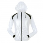 NUCKILY NY0920 Ultrathin Anti-UV Water Resistant Men's Cycling Jacket Coat - White (Size L)