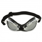 Outdoor Sports Cycling UV400 Protection Goggles - Silver + Black