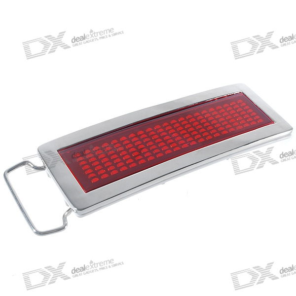 Customizable Text Dot-Matrix LED Scrolling Message Display Belt Buckle