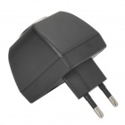 PVC EU 2-Round-Pin Plug Car Power Charging Adapter / Charger - Black
