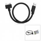 USB Male to Apple 30-Pin Male Data Charging Cable - Black (45cm)
