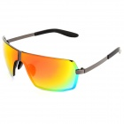 8491 Fashion UV400 Protection Resin Lens Sunglasses for Men - Grey