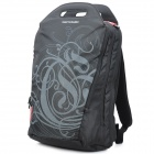 "SENDIWEI Fashionable Water Resistant Nylon Leisure 15.6"" Computer Traveling Zipper Backpack - Black"