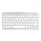 Teclado de doble modo de V3.0 Bluetooth inalámbrico para PC / iPhone / iPad / dispositivos Android - blanco + gris