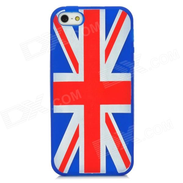 United Kingdom National Flag Pattern Protective Silicone Back Case for Iphone 5 - Blue + Red + White flag of the united kingdom large 1 5 meter size