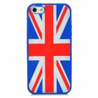 United Kingdom National Flag Pattern Protective Silicone Back Case for Iphone 5 - Blue + Red + White