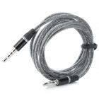 TPU 3.5mm Male to Male Audio Cable - Grey + Black (123cm)