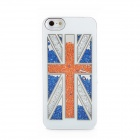 UK National Flag Pattern Protective Plastic Case for iPhone 5 - White + Blue + Orange