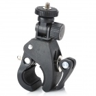 1 / 4 Motorcycle Bike Bicycle Plastic Mount Handlebar Holder Tripod for Digital Camera - Black
