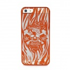 Laser Etching Protective PC Plastic Case for iPhone 5 - Golden