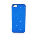 Loving Heart Pattern Protective Plastic Case for iPhone 5 - Blue