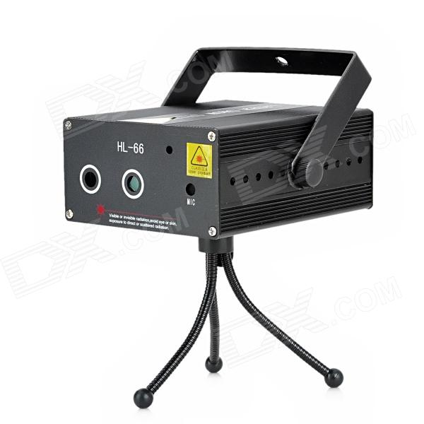HL-66 100mW Red + 50mW Green Laser Stage Lighting Projector (DC 12V)