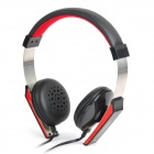 COSONIC CT-656 Fashion Headphone w/ Microphone - Black + Red + Silver (3.5mm Plug / 120cm)