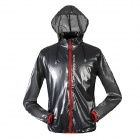 NUCKILY NY0920 Ultrathin Outdoor Sports Anti-UV Water Resistant Jacket Coat - Deep Grey (Size L)