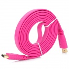 1080p HDMI V1.4 Male to Male Connection Cable for HDTV / Home Theater / Projector - Deep Pink