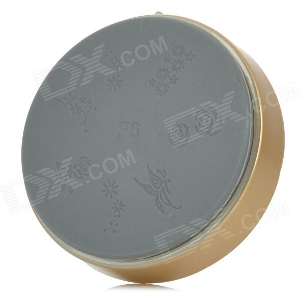 BKF6 DIY Nail Silicone Printing Plate Stamping Tools - Golden + Grey